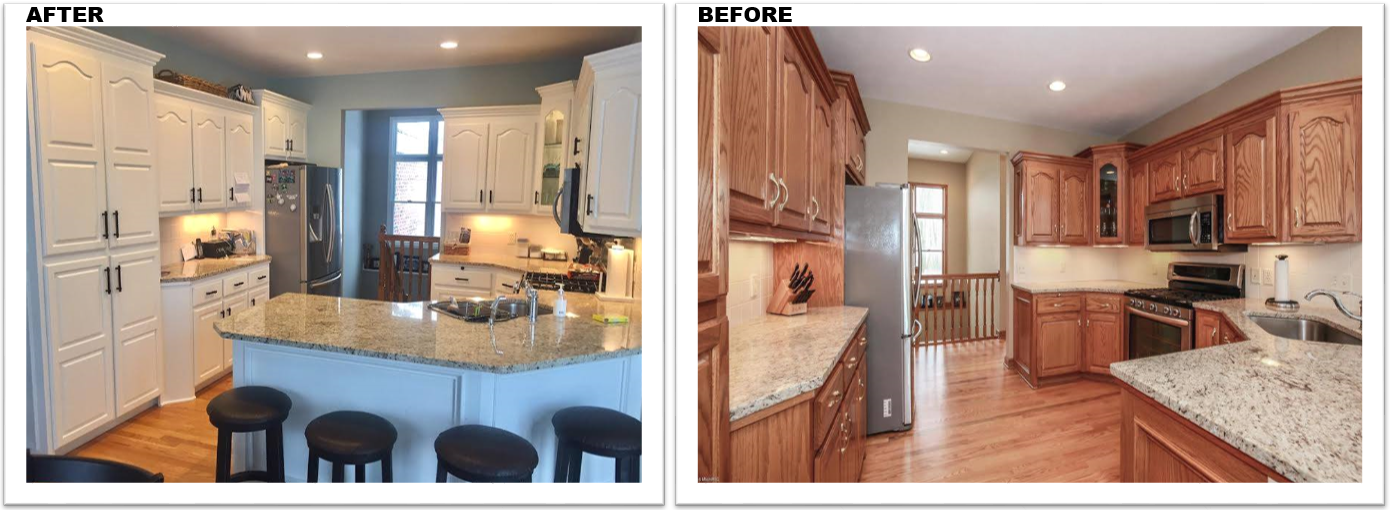 Kitchen Painting Grand Rapids Mi Before and After