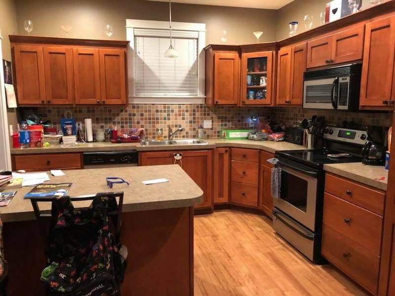 Kitchen Cabinet Refinishing Before & After
