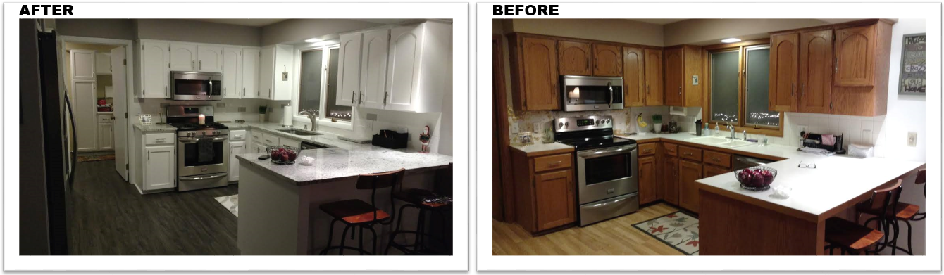Kitchen refinishing grand rapids mi before and after