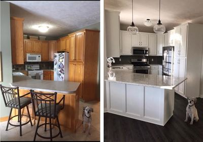 before and after kitchen refinishing Grand Rapids Mi